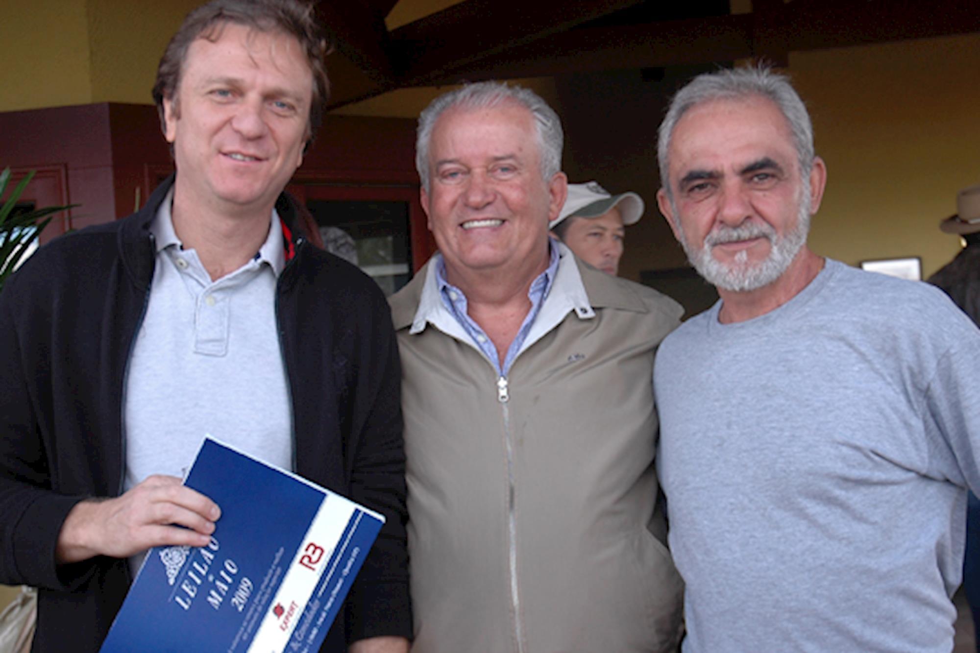 Nelson Braido,  Toninho Caetano e Dr. Jad, Leilão de Maio