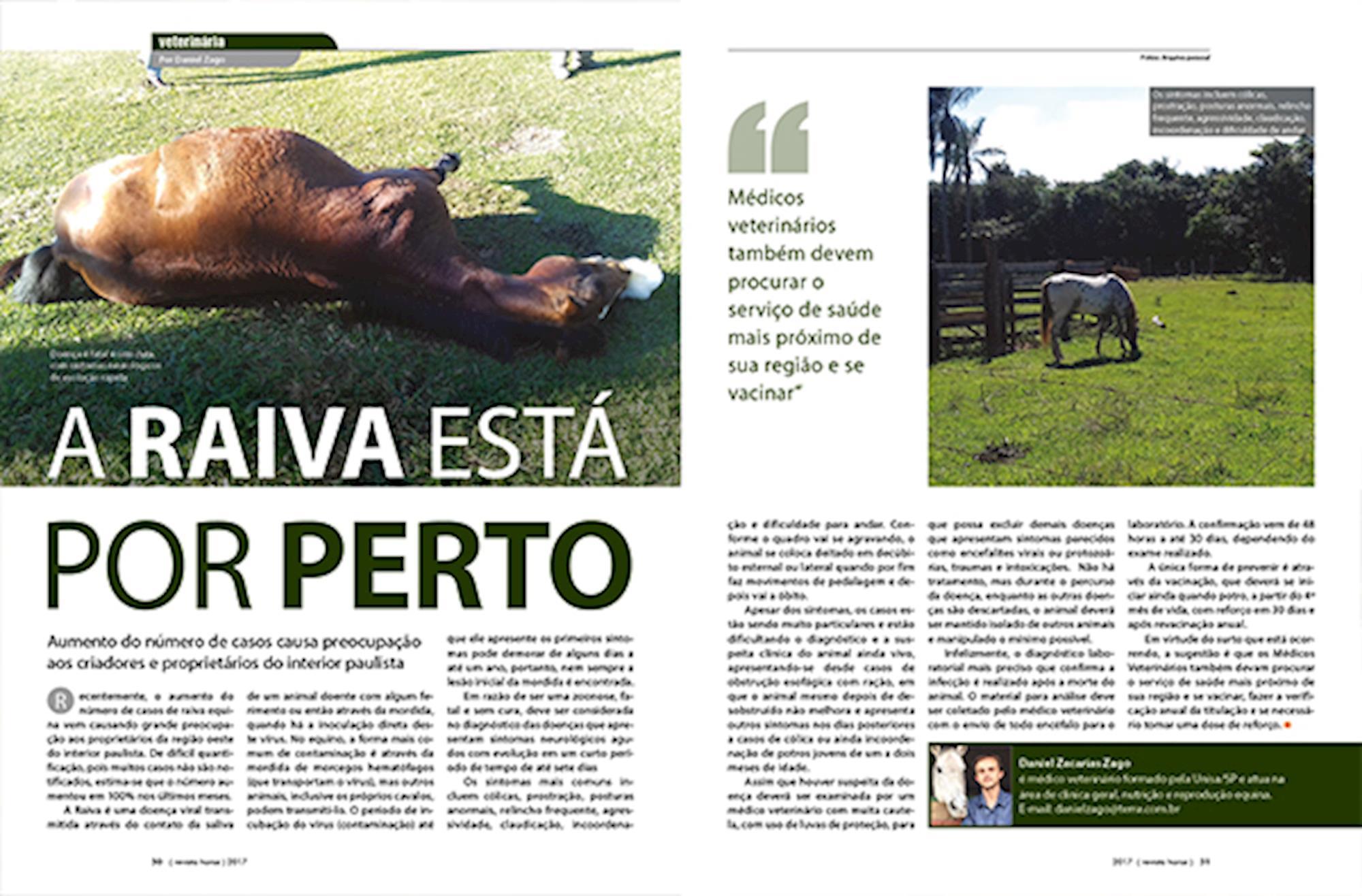 Revista Horse, Raiva em cavalos, Horse, Cavalos, Equitação, Equitação,