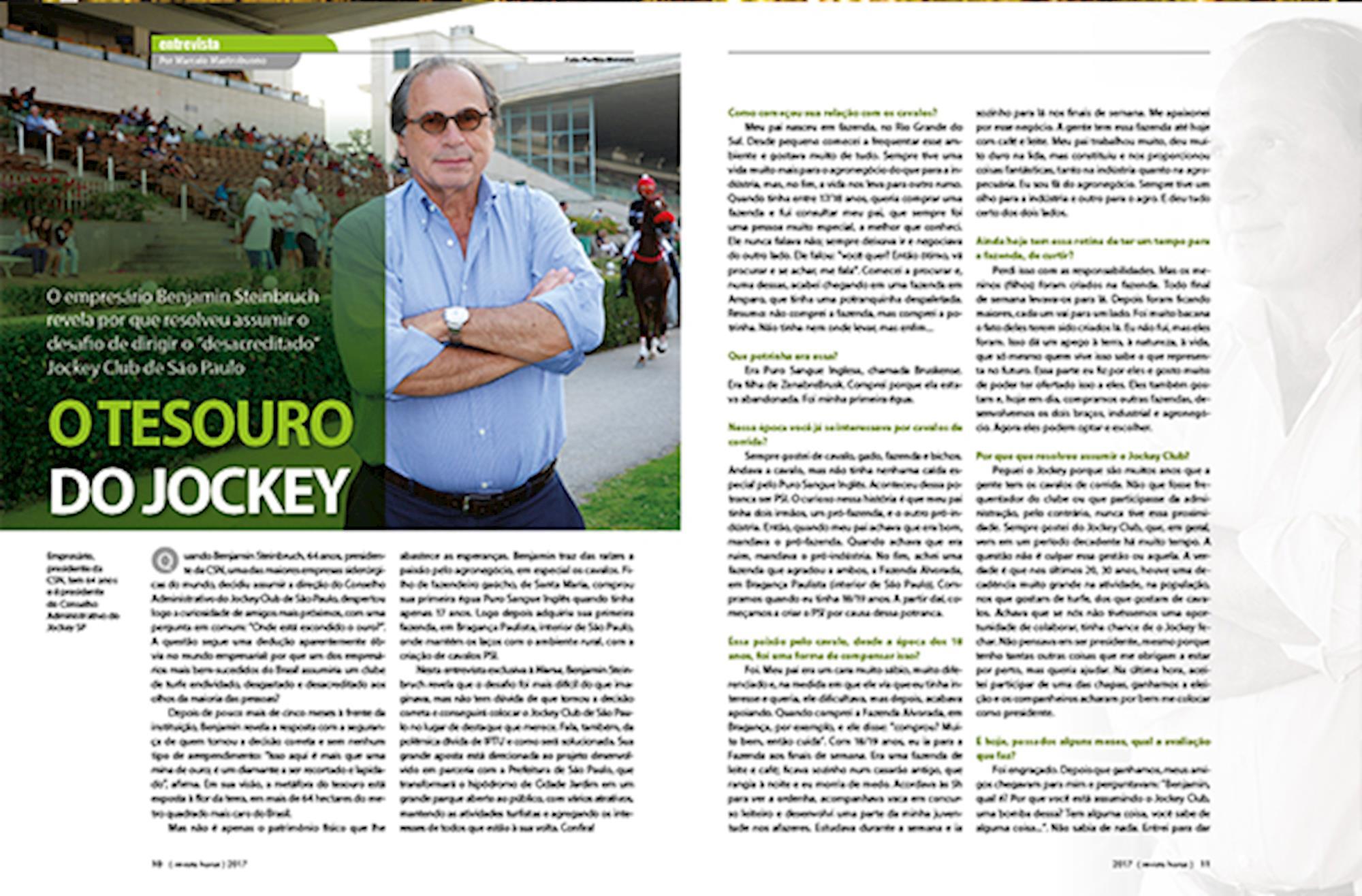 Benjamin Steinbruch, CSN, Jockey, Revista Horse,