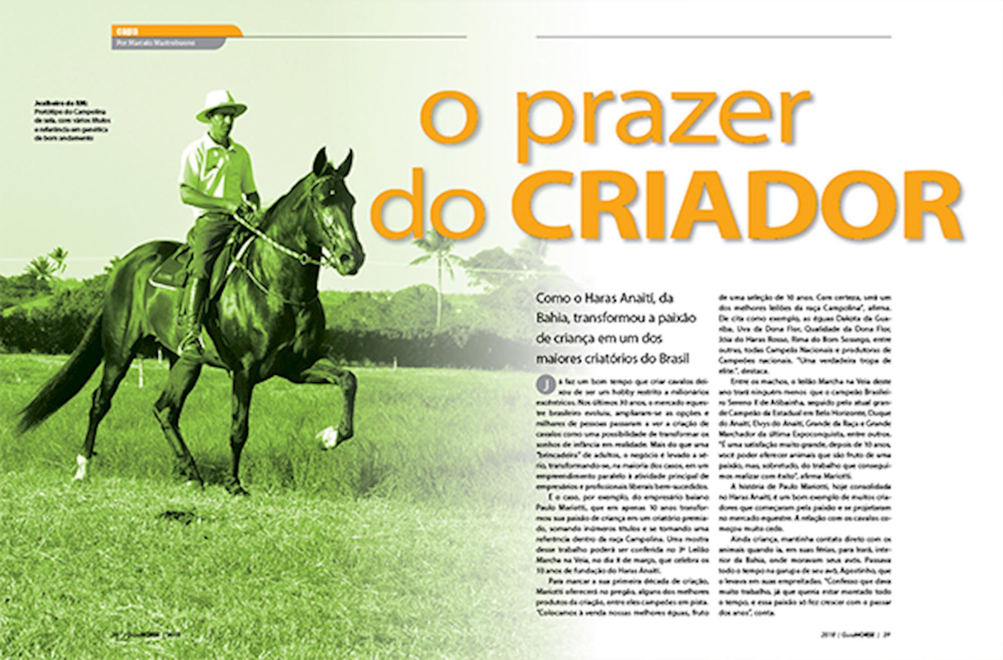 guia horse 2018, edições,
