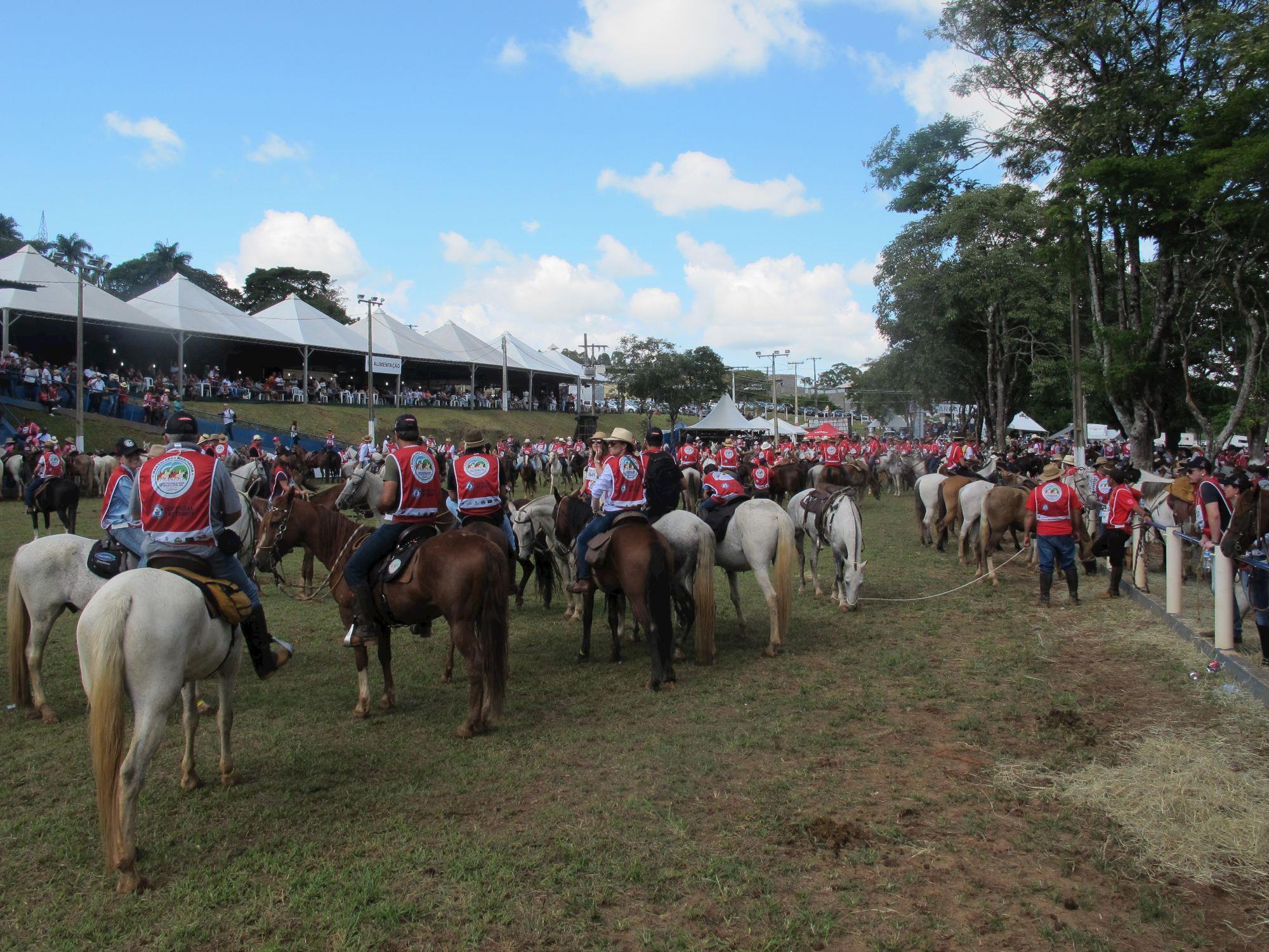 Mangalarga Marchador faz cavalgada histórica