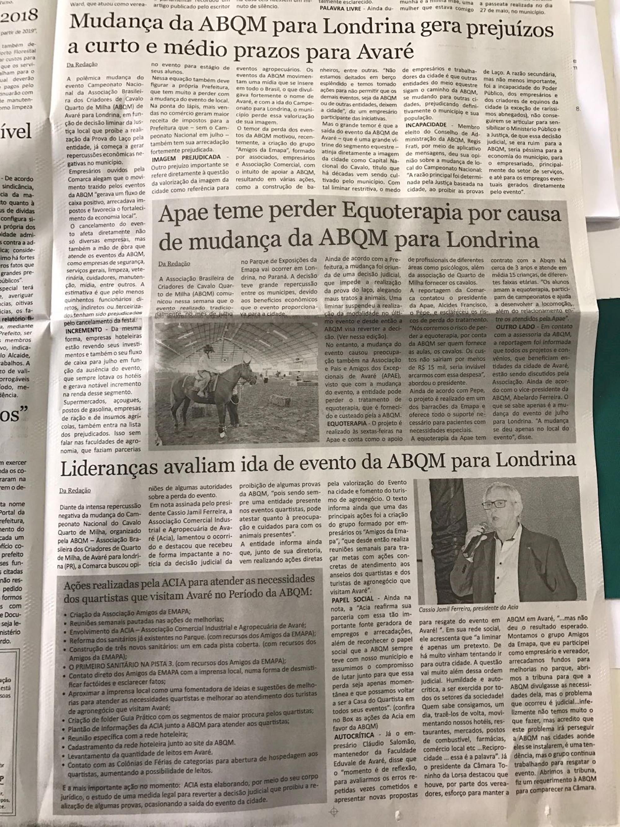 abqm, 2018, imprensa,