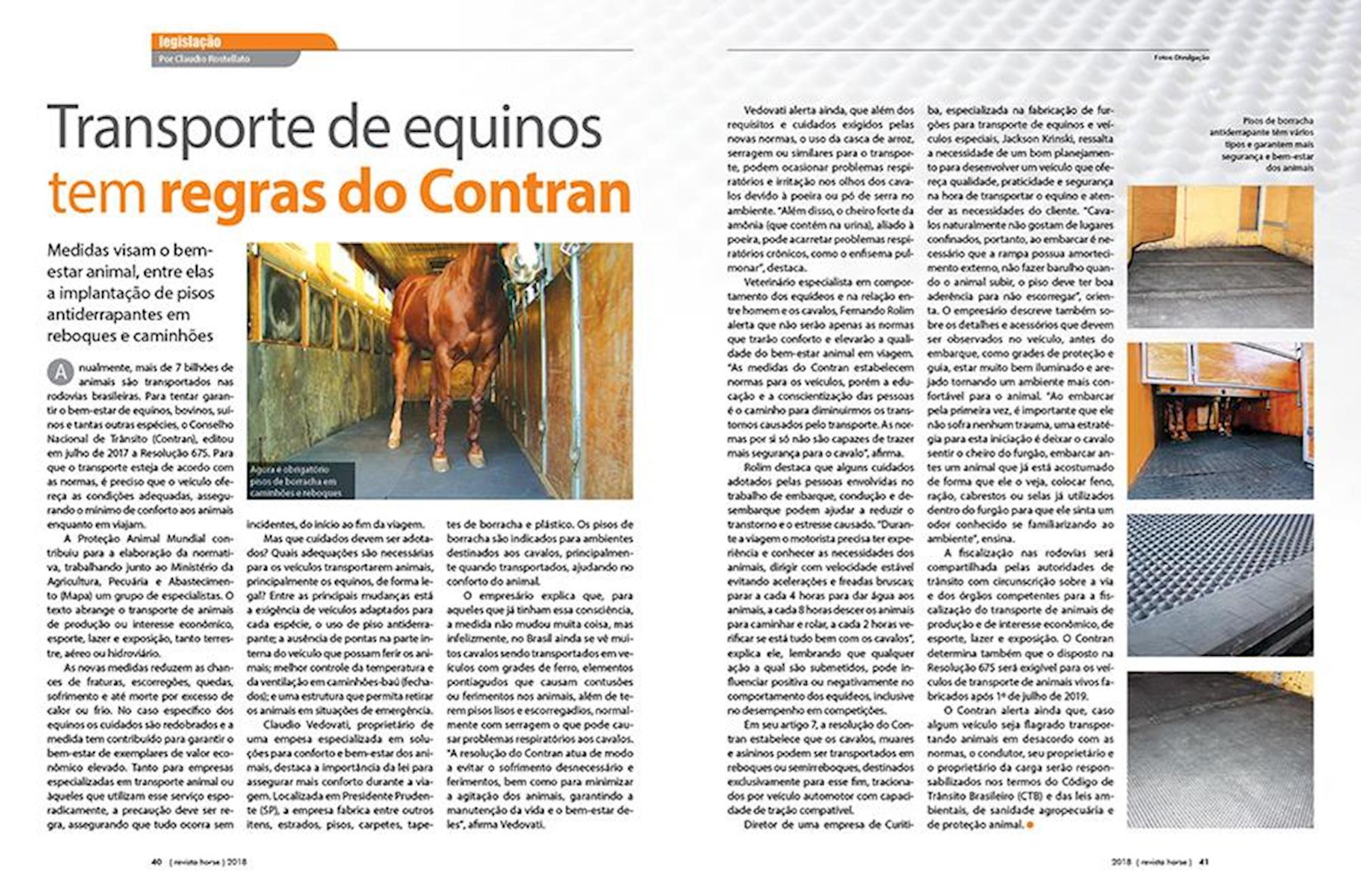 transporte de animais, novas regras, Contran, transporte de cavalos,