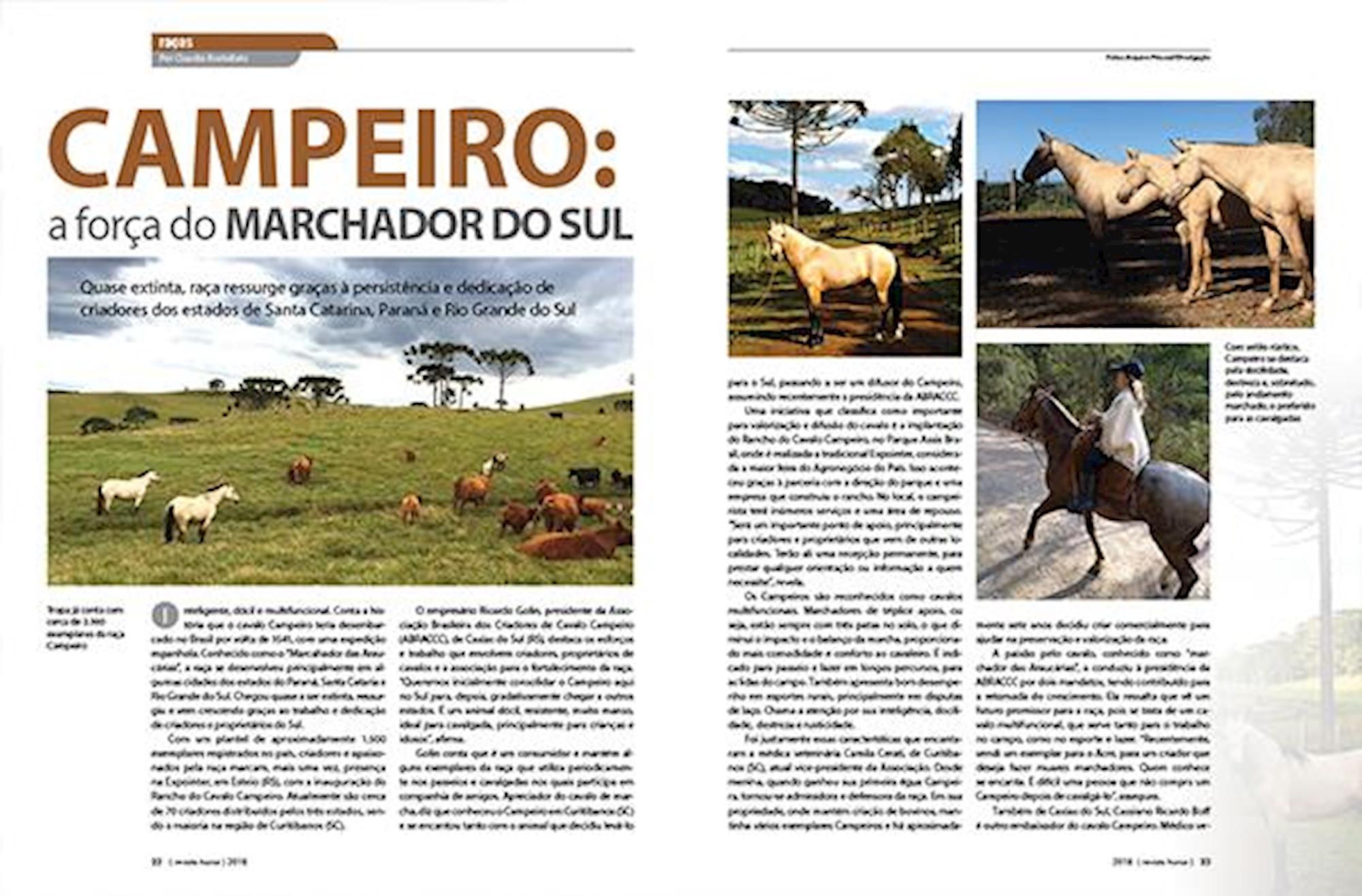 Cavalo Campeiro, Revista Horse,