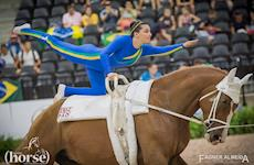 Veja as fotos exclusivas da Horse da apresentação do Time Brasil de Volteio