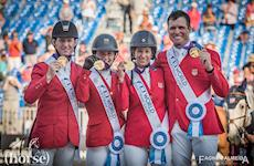 No Salto por equipes, USA (foto) é ouro Ouro; Suécia, prata, Alemanha, bronze