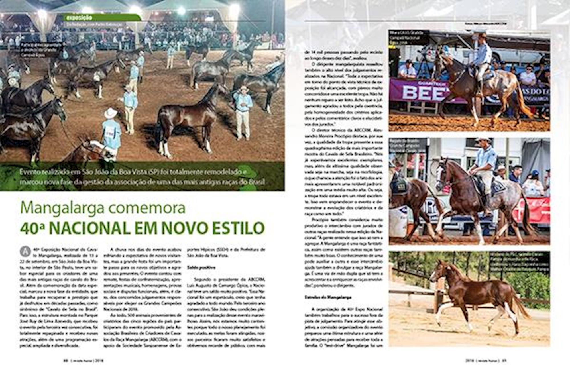 Revista Horse, WEG, Jogos Equestres Mundiais, Tryon, CBH, Mangalarga,