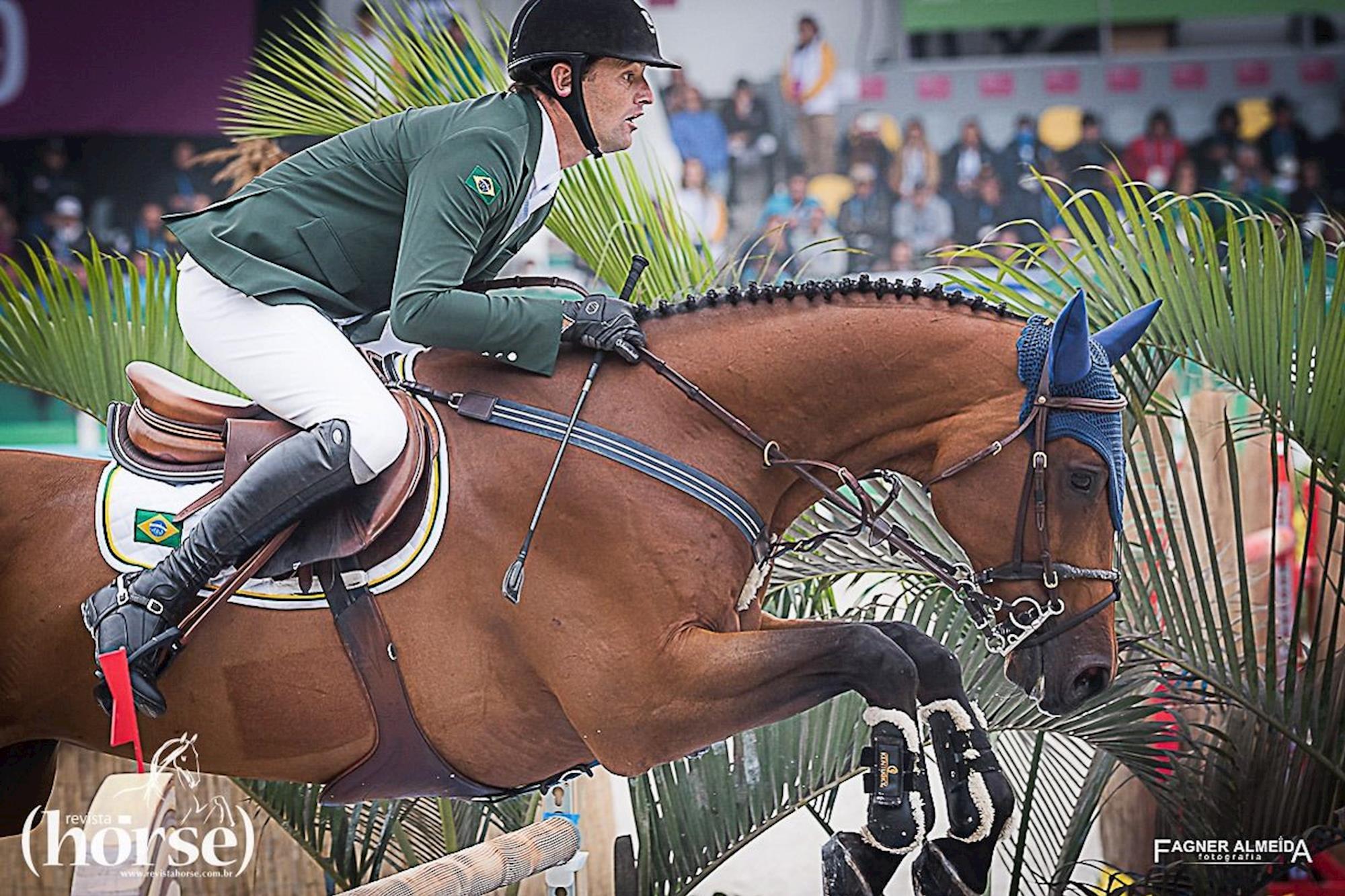 EDUARDO MENEZES/H5 CHAGANUS, EDUARDO MENEZES,  H5 CHAGANUS, Fagner Almeida/Revista Horse, Time Brasil dá grande salto para o pódio e à vaga da Olimpíada de Tóquio