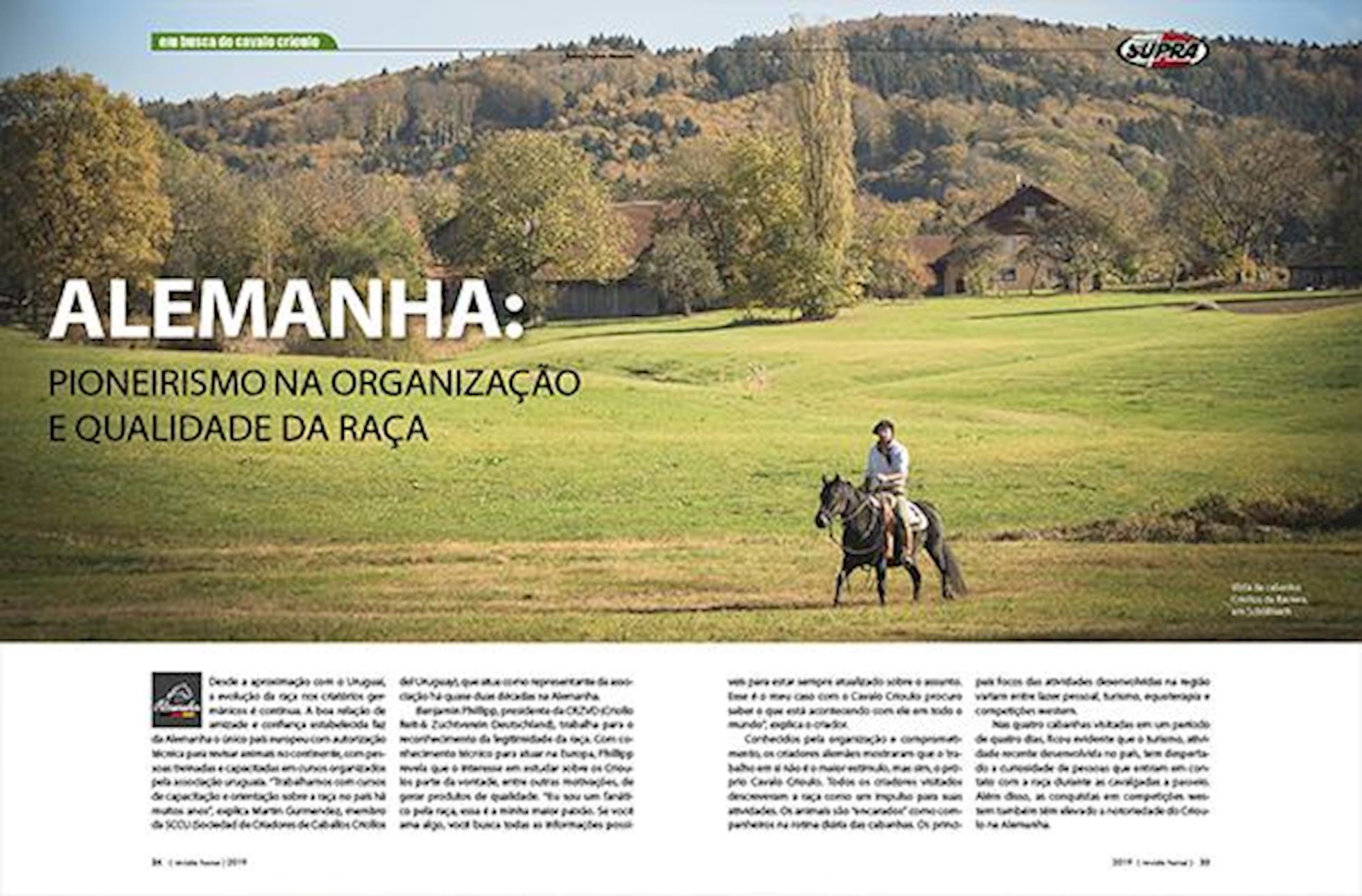 edição 117, Em Busca do Cavalo Crioulo, Fagner Almeida, Horse, Europa, Alemanha,