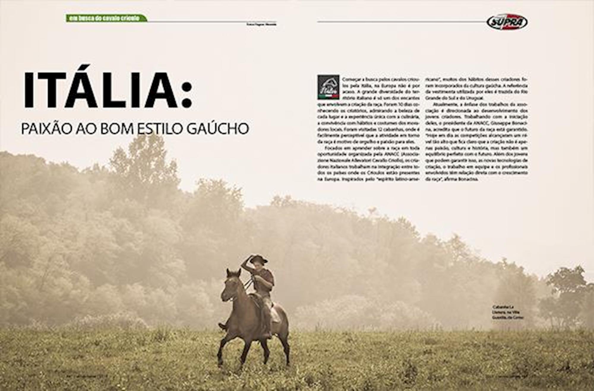 edição 117, Em Busca do Cavalo Crioulo, Fagner Almeida, Horse, Europa,