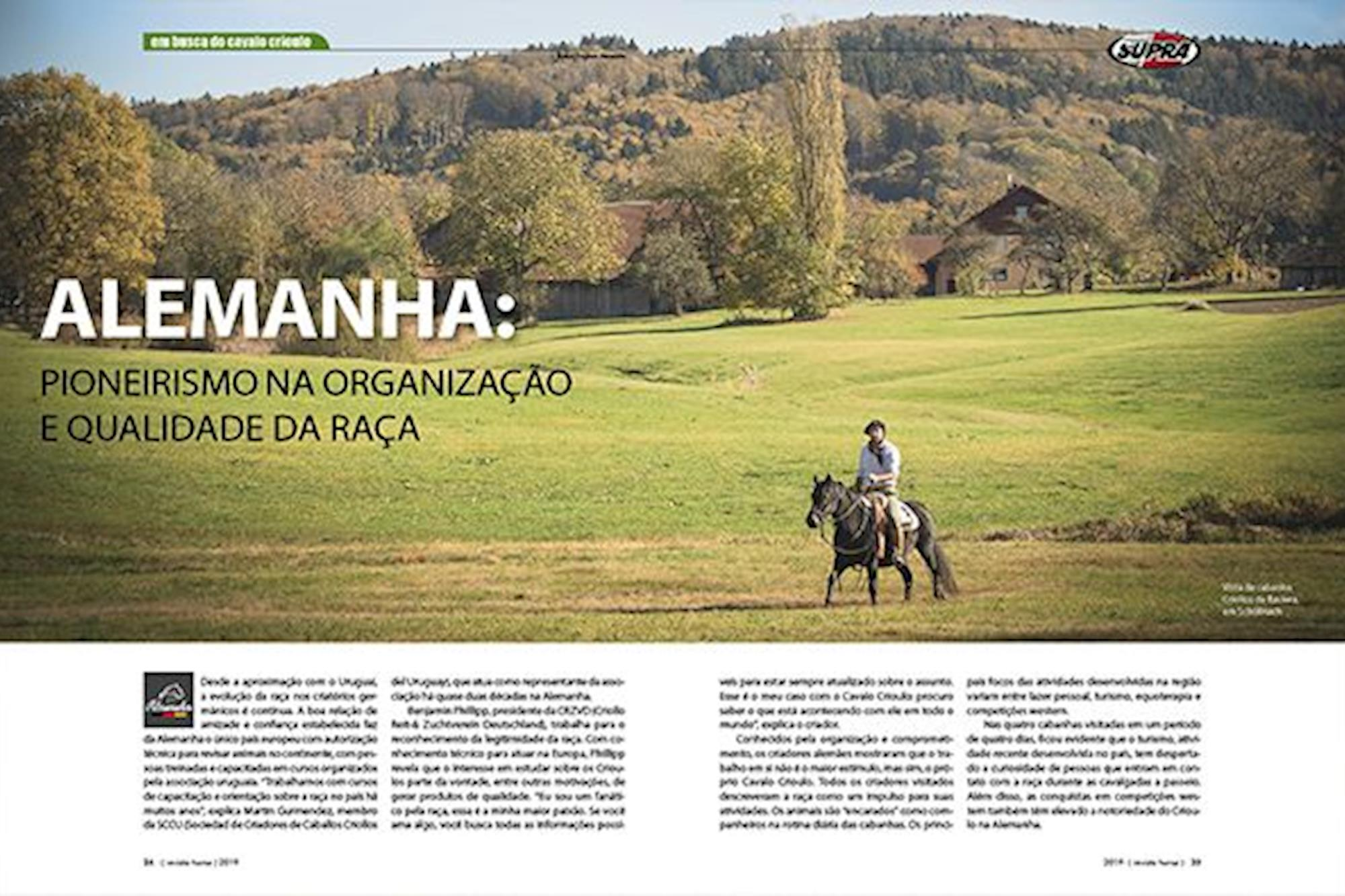 Os cavalos Crioulos na Europa