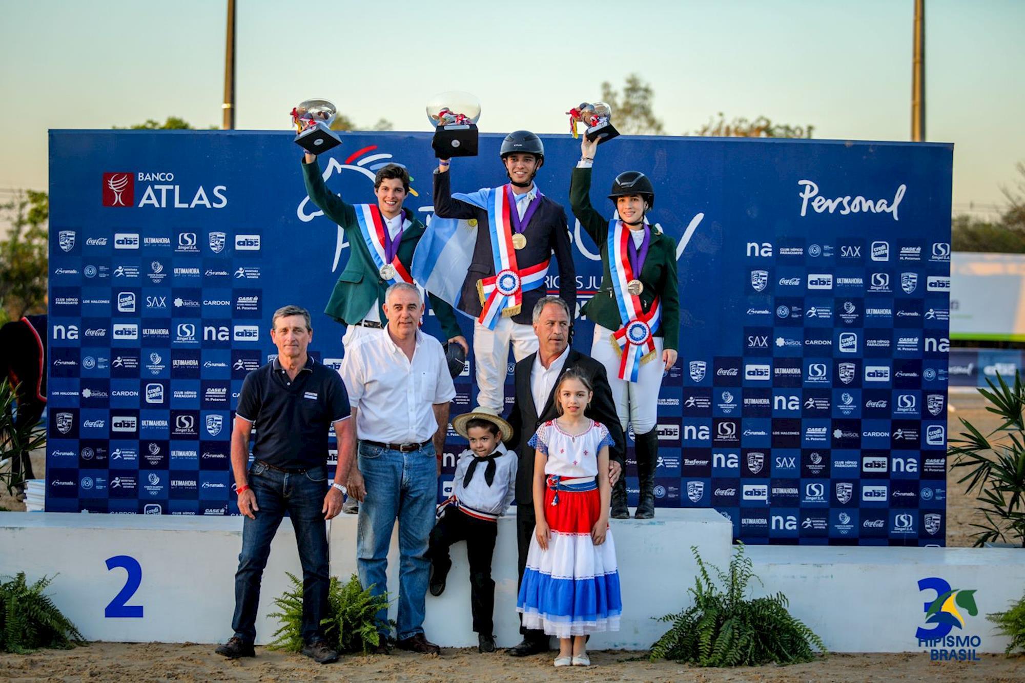 Young Riders: João Pedro Roberto,  prata e e Victoria Mendonça. bronze, Sul-americano,  Paraguai,  hipismo,  juventude,  salto,  CBH, Luis Ruas, Juventude voa no Paraguai