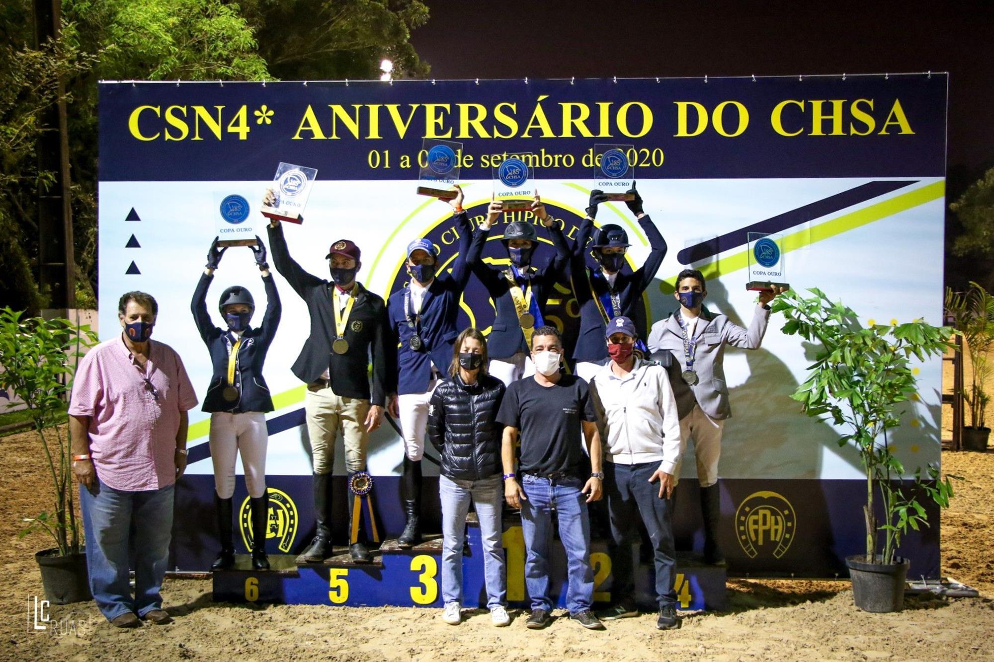 Pódio da Copa Ouro, Copa Ouro, Luis Ruas, CSN dos 85 Anos do CH Santo Amaro retoma hipismo em SP