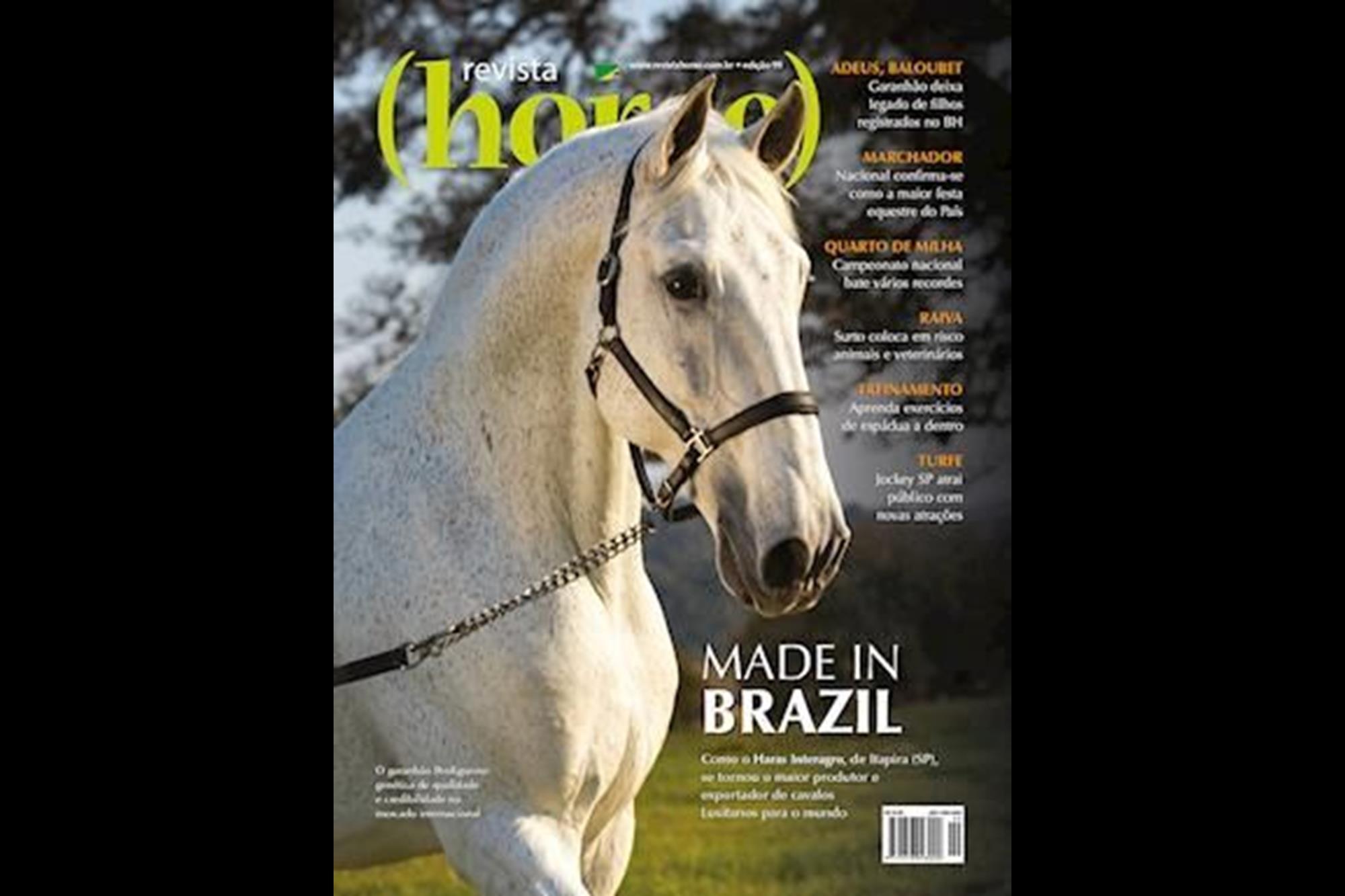Edição 99 - Campeão categoria Raças, Capa Revista Horse, Tupa Vídeo Foto, Eleja a capa mais bonita