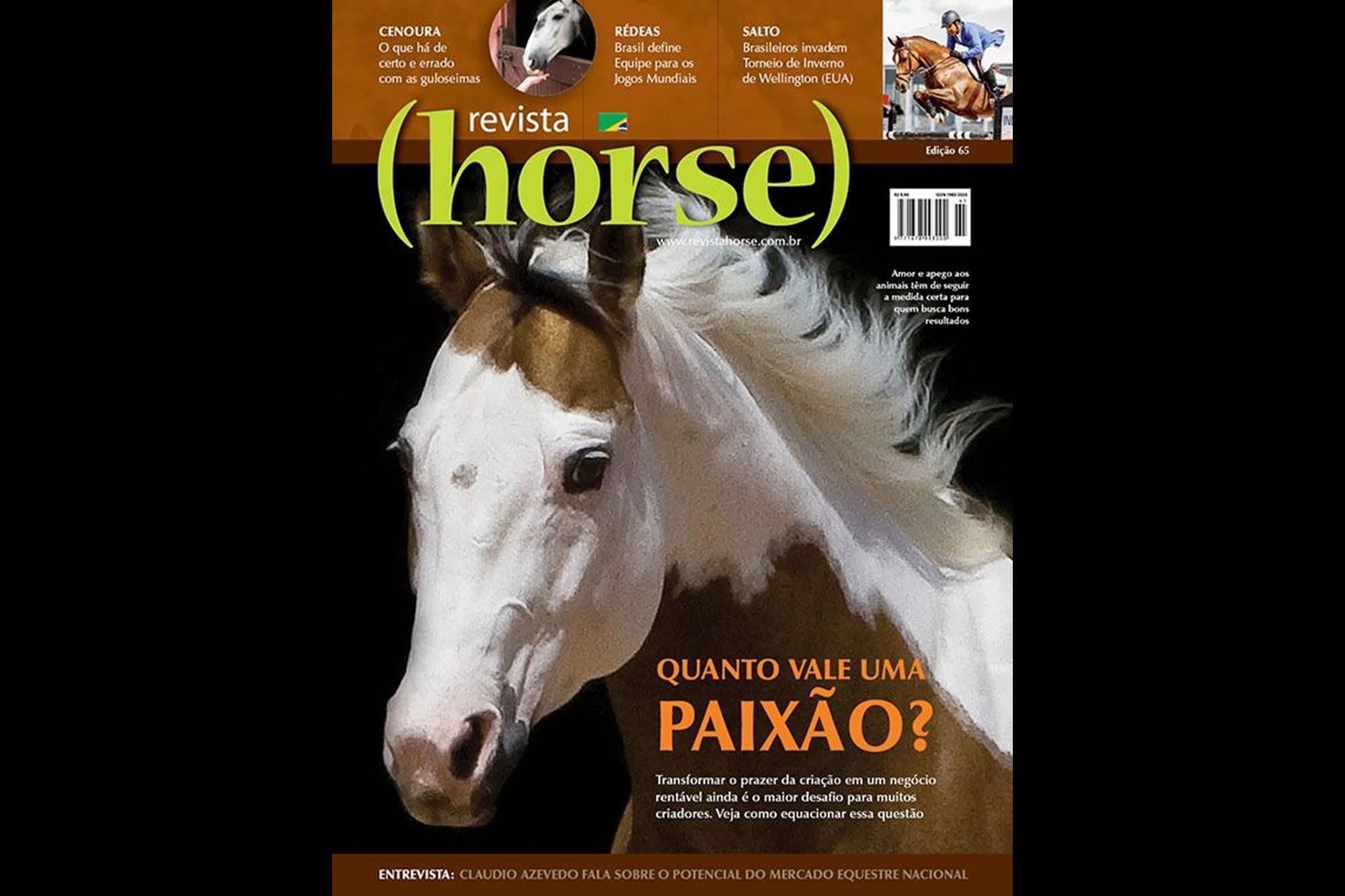 Edição 65 - Campeão categoria Afins, Capa Revista Horse, Neide Weingrill, Eleja a capa mais bonita