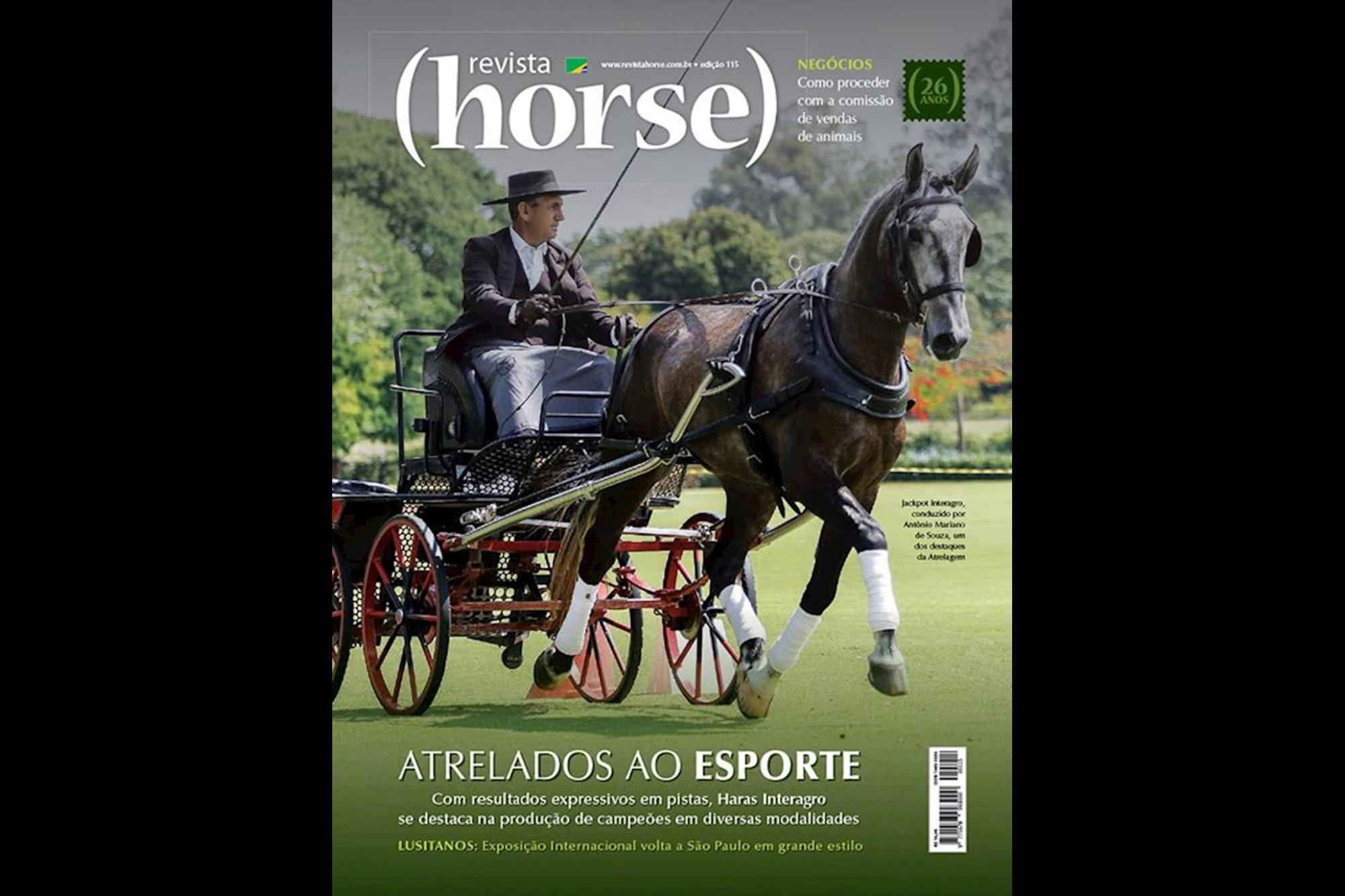 Edição 115 - Campeão categoria Raças, Capa Revista Horse, Heleno Clemente, Eleja a capa mais bonita