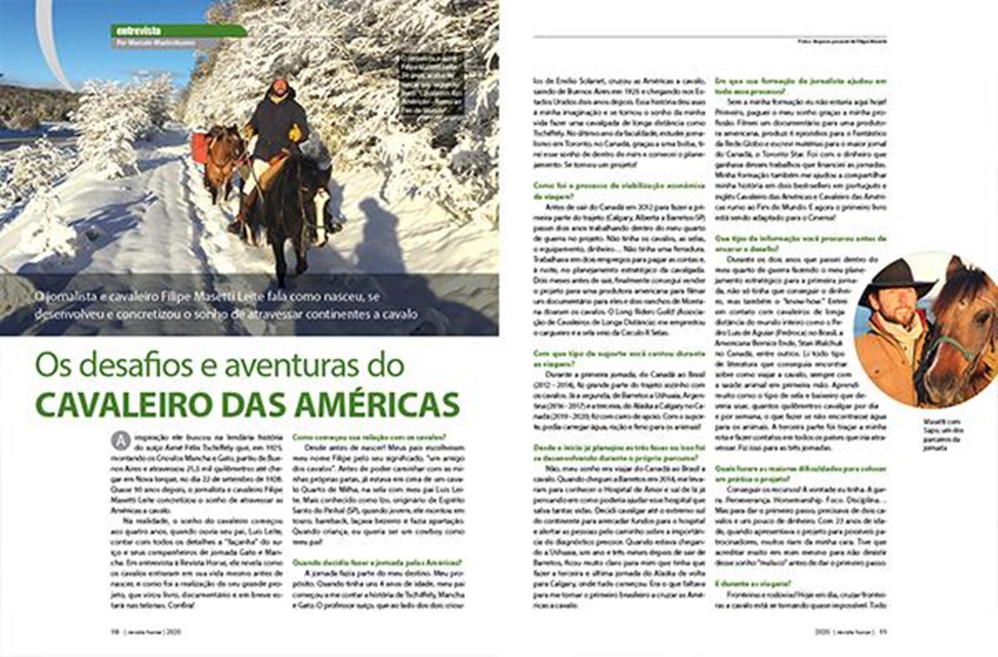 edição 128, Filipe Masetti, Cavaleiro das Américas, Reprodução