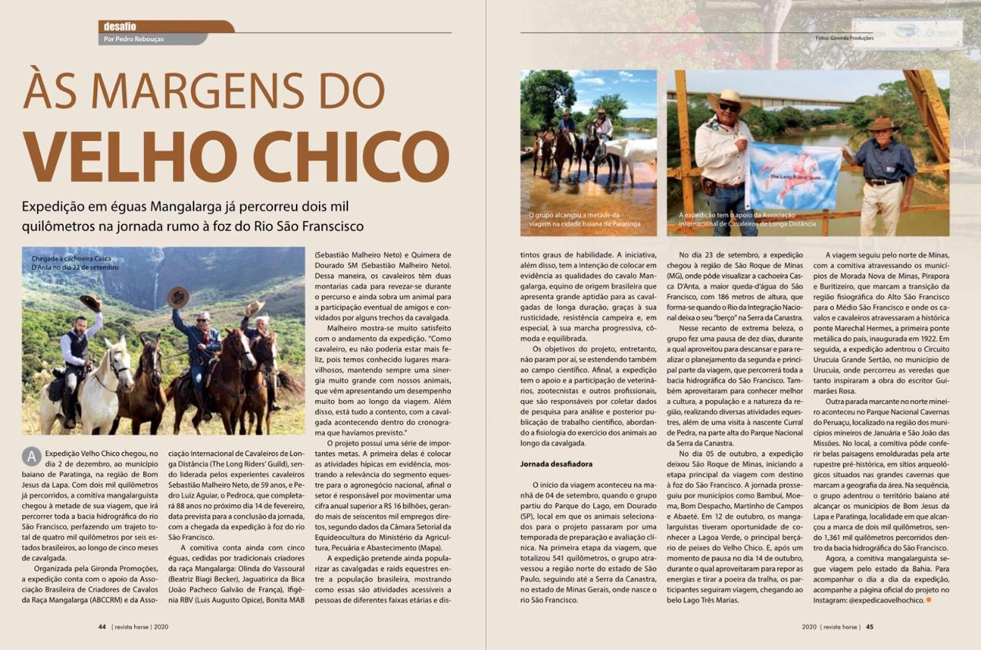 artigos site, edição 128, cavalgada, Velho Chico, expedição, Reprodução