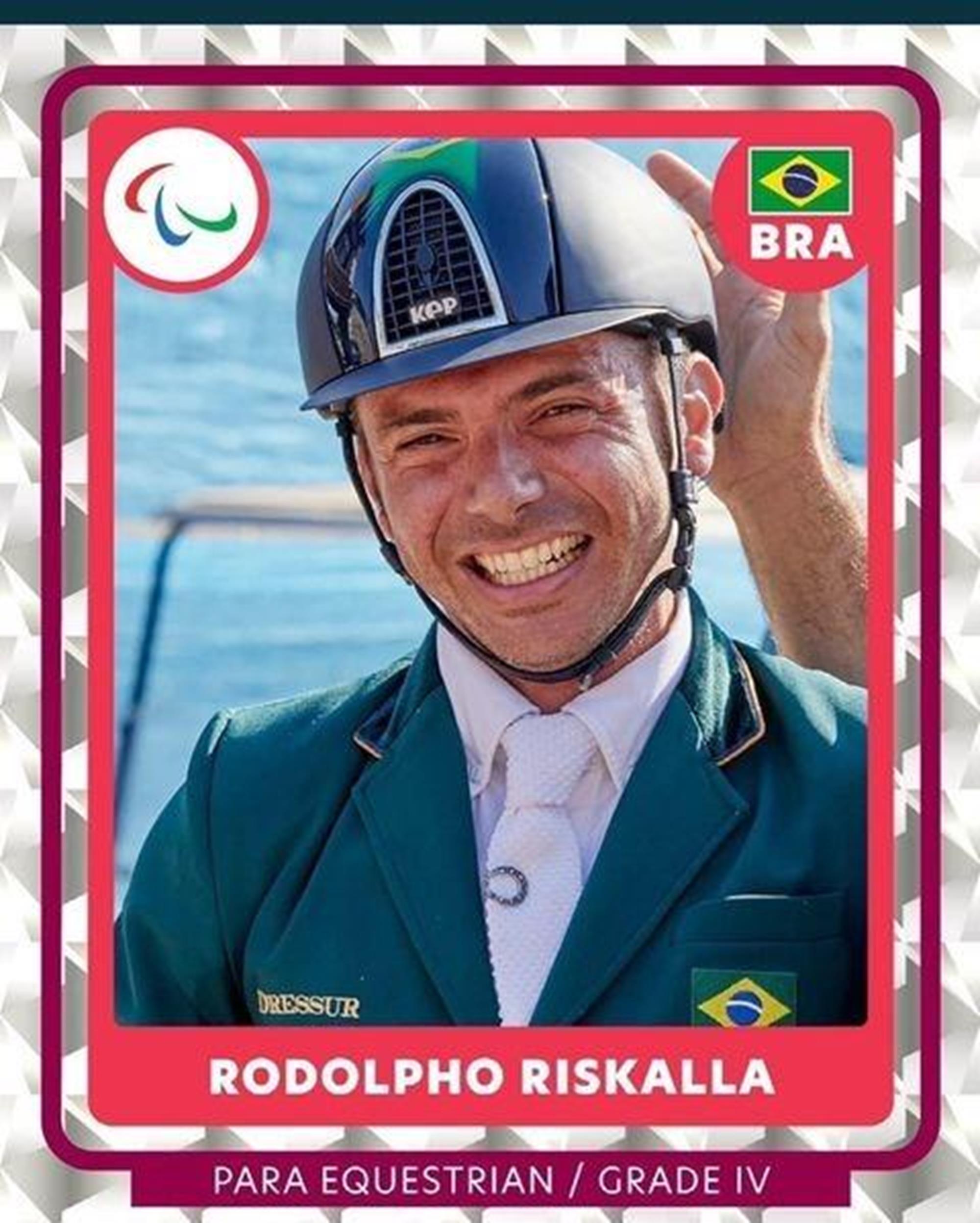 album de figurinha, paraequestre, Rodolpho Riskalla, Reprodução