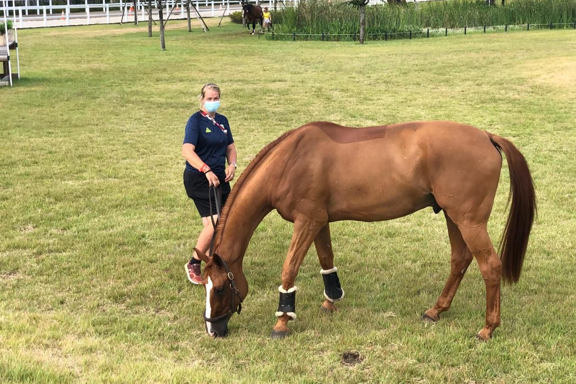 Cavalos do Time de Salto já estão em atividades em Tóquio